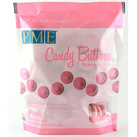 PME Pink Candy Buttons 340g