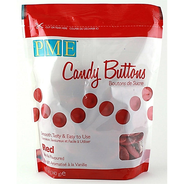PME Red Candy Buttons 340g