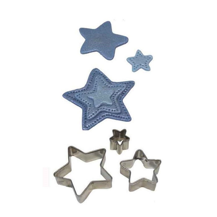 PME Stainless Steel Star Cutters 3 piece