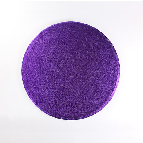 12 Inch Round Cake Drum - Purple