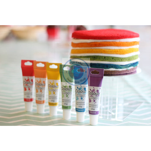 Coloursplash Icing Colour Gel Set of 6 RAINBOW Colours