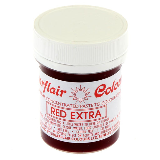 Sugarflair Paste Colours - Red Extra- 42g