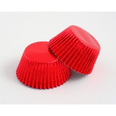 56 Red Foil Cupcake Cases
