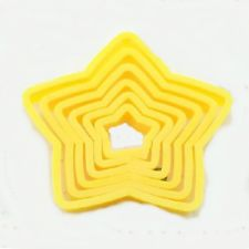 Set of 6 Star Cookie and Fondant Cutters