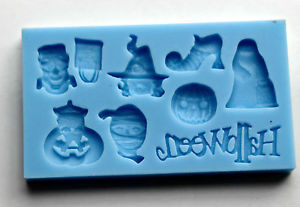 Small Spooky Halloween Silicone Mould