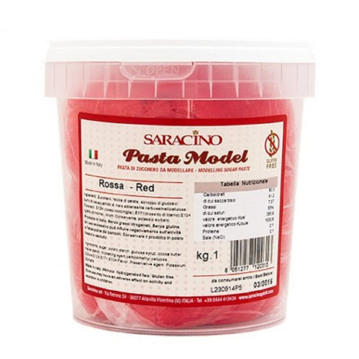Saracino 1kg Red Modelling Paste
