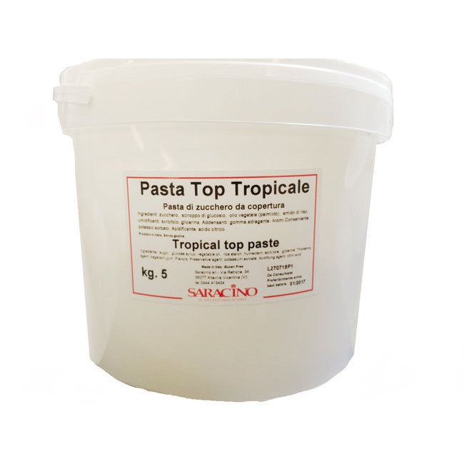 Saracino White Tropic Sugar Paste 5kg
