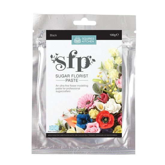 Squires Kitchen Black 100g Sugar Florist Paste