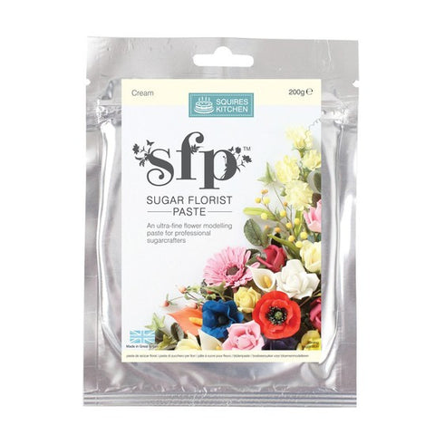 Squires Kitchen  Cream 200g Sugar Florist Paste
