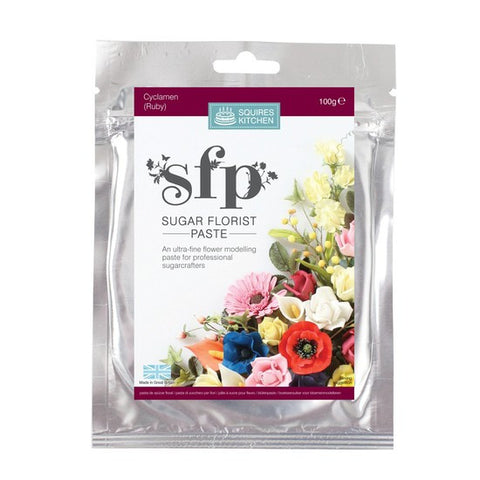 Squires Kitchen Cyclamen (Ruby) 100g Sugar Florist Paste