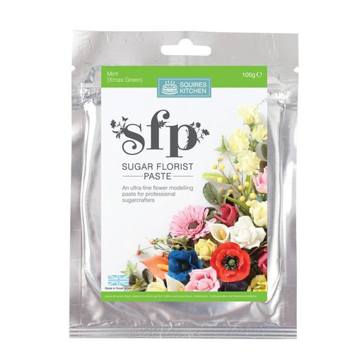 Squires Kitchen Mint (Xmas Green) 100g Sugar Florist Paste