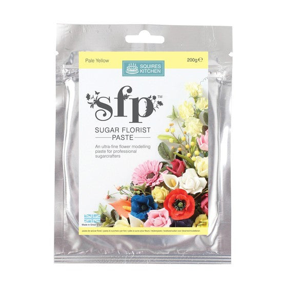 Squires Kitchen  Pale Yellow 200g Sugar Florist Paste