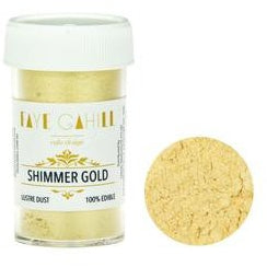 Faye Cahill  Edible Lustre Dusts- Shimmer Gold
