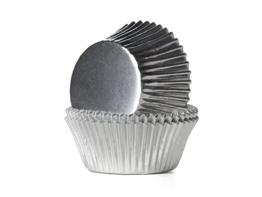 High Quality Foil Baking Muffin/ Cupcake Cases- Silver Pack 500