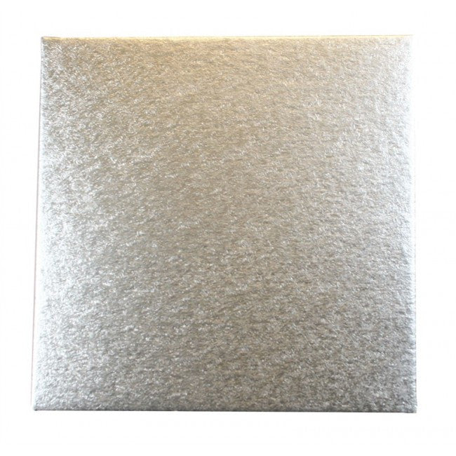 Single Thick Square Silver Cake Cards (Pack of 5) - 10 Inch