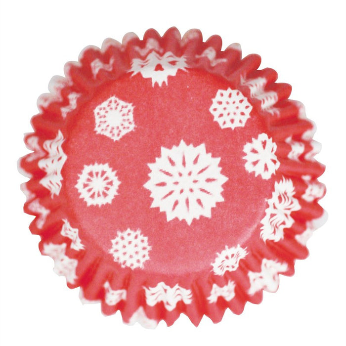 Culpitt - 54 Baking Cases Red Snowflakes