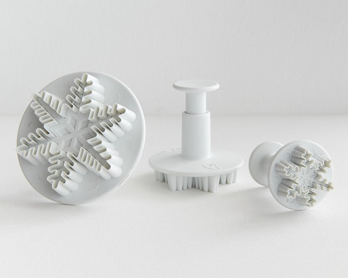 Snowflake Plunger Cutter- Set of 3