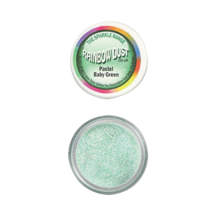 Rainbow Dust Sparkle Range - Pastel Baby Green
