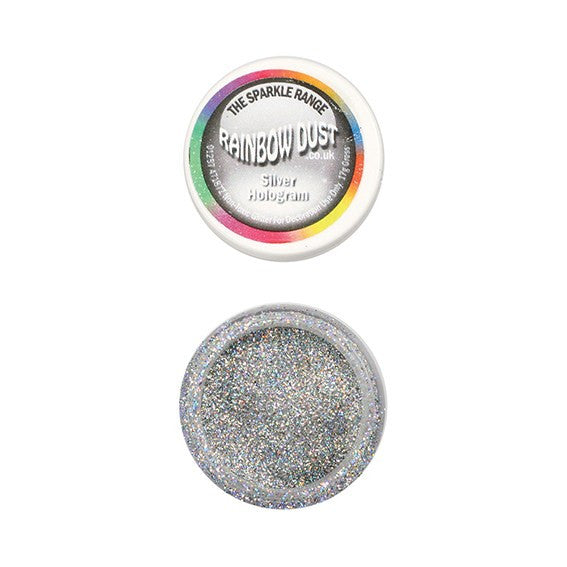 Rainbow Dust Sparkle Range - Hologram Silver