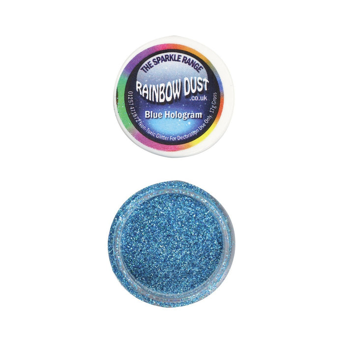 Rainbow Dust Sparkle Range - Hologram Blue