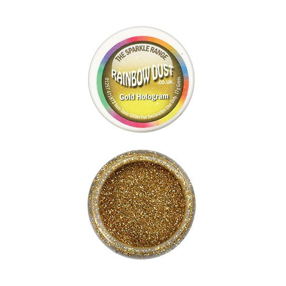 Rainbow Dust Sparkle Range - Hologram Gold