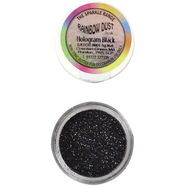 Rainbow Dust Sparkle Range - Hologram Black