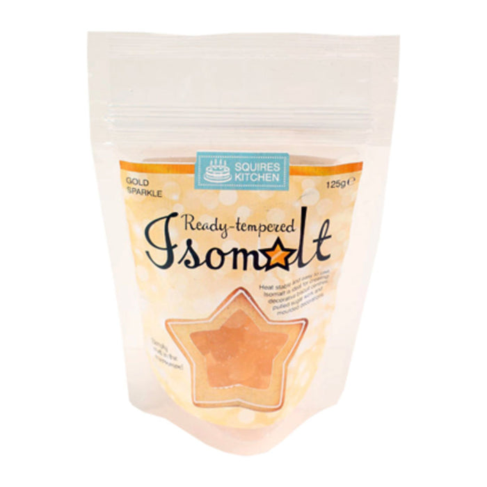 Squires Kitchen SK Ready Tempered Isomalt Gold Sparkle 125g