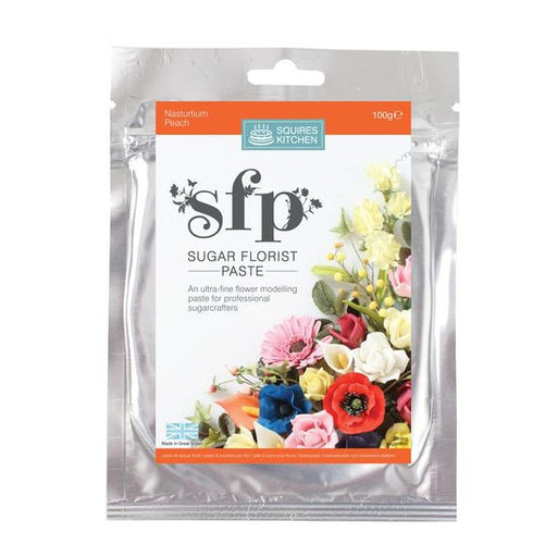 Squires Kitchen Nasturtium (Peach) 100g Sugar Florist Paste