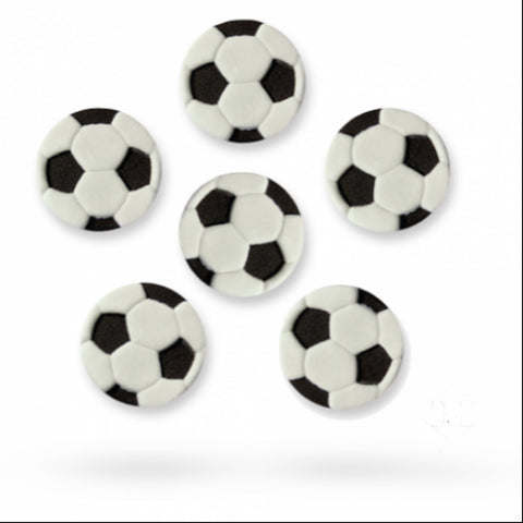 Sugar Decorations - Footballs 6/pk