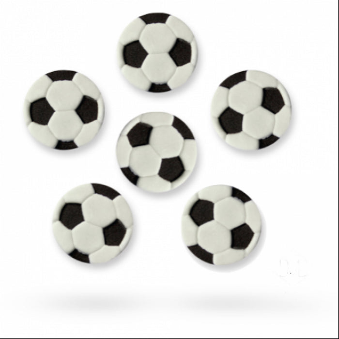PME Sugar Decorations - Footballs 6/pk