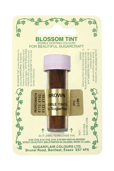 Sugarflair Blossom Tint Dusting Colours -Brown