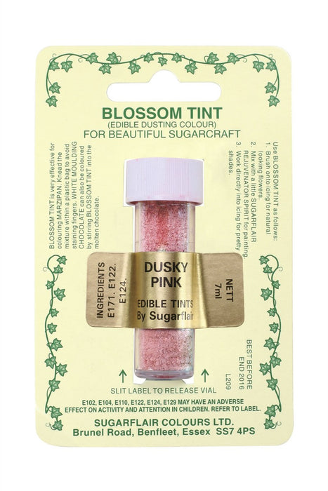 Sugarflair Blossom Tint Dusting Colours -Dusky Pink