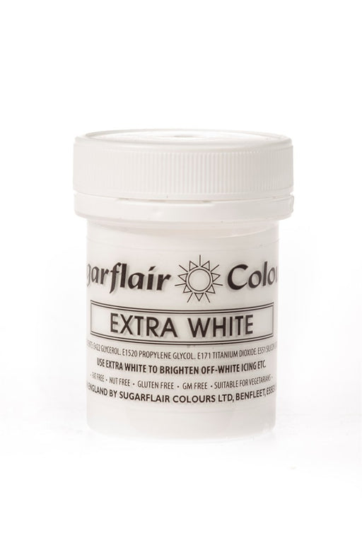 Sugarflair Paste Colours - Extra White - 50g