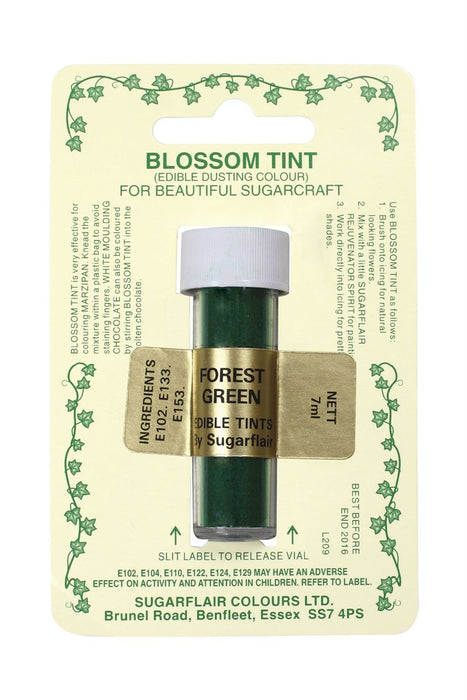 Sugarflair Blossom Tint Dusting Colours -Forest Green