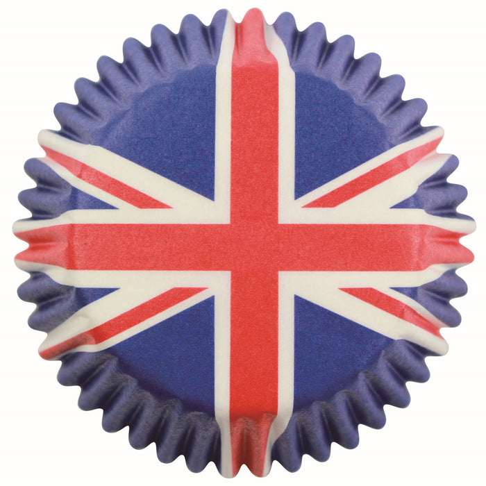 PME Union Jack Cupcake Cases (Pack of 60)