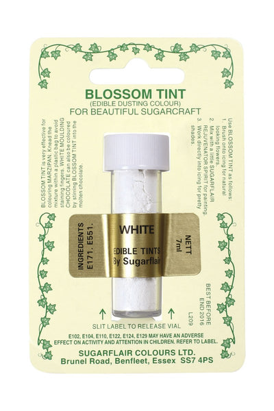 Sugarflair Blossom Tint Dusting Colours -White