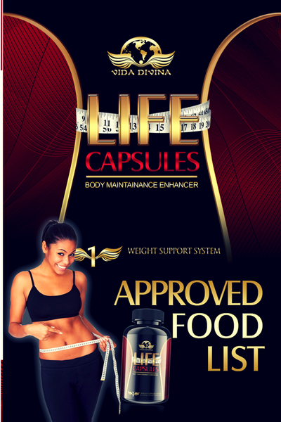 life Capsules approved food list