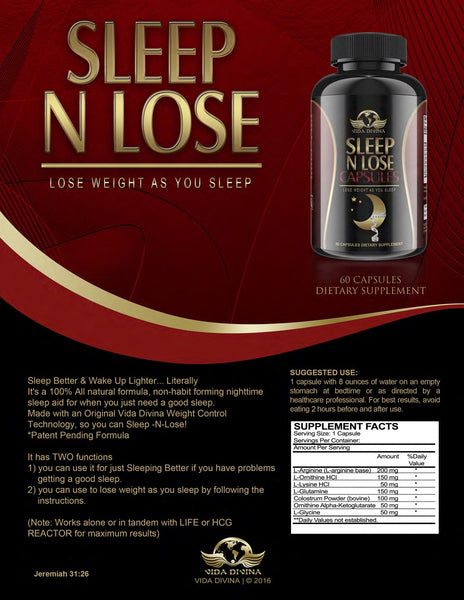 Vida Divina Sleep N Lose Capsules