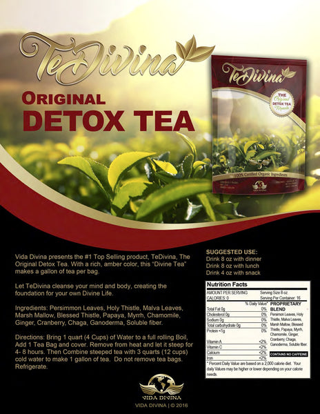 TeDivina™ The Original Detox Tea from Vida Divina® - Double Take Body