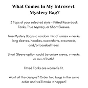 Introvert Mystery Bag
