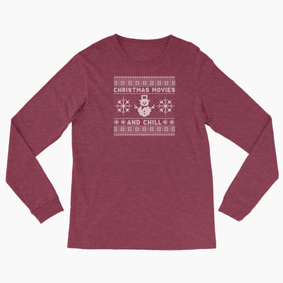Christmas Movies and Chill - Bella Canvas Long Sleeve