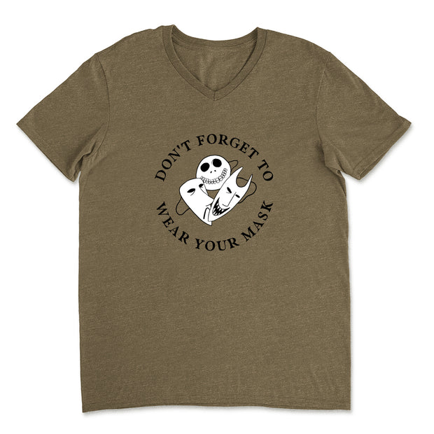 Don't Forget to Wear Your Mask - Unisex V-Neck