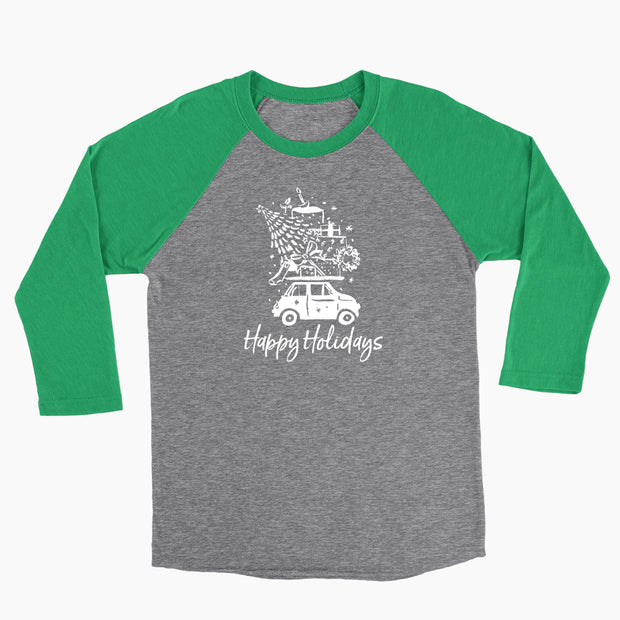 Happy Holidays - Unisex Baseball Tee