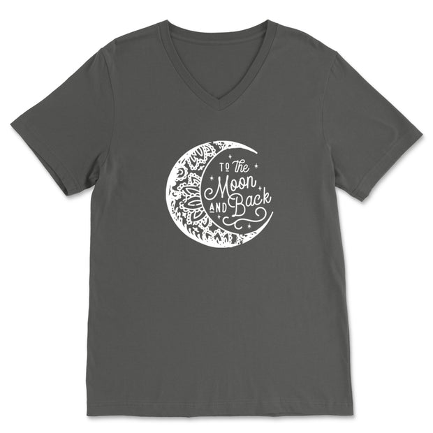To the Moon and Back [2020] - Unisex V-Neck