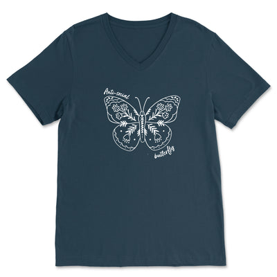 Anti-Social Butterfly - Basic V-Neck