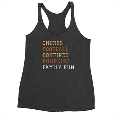 Smores Football Bonfires - Flowy Tank