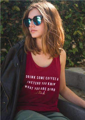 #ADULTISH Coffee & Pretend - Fitted Tank