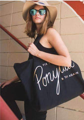 [2017] Fix Your Ponytail Black Tote Bag