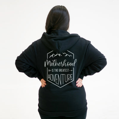Motherhood Is The Greatest Adventure - Zip Hoodie