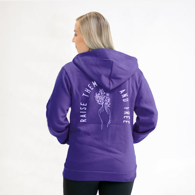 Raise Them Wild and Free - Zip Hoodie